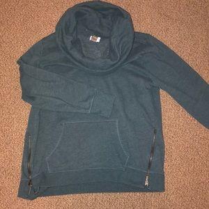 Old Navy Active Teal Cowlneck Sweatshirt